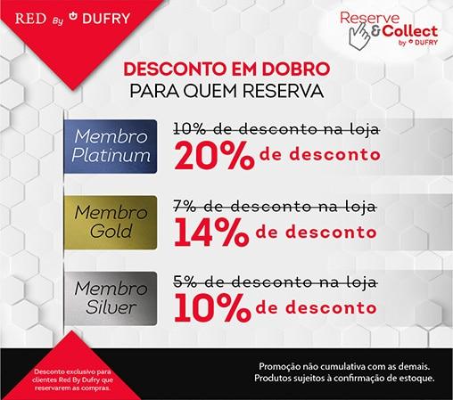 RED BY DUFRY DESCONTO EM DOBRO
