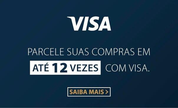 Parcelamento em até 12x no VISA