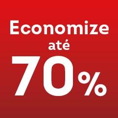 Economize até 70%
